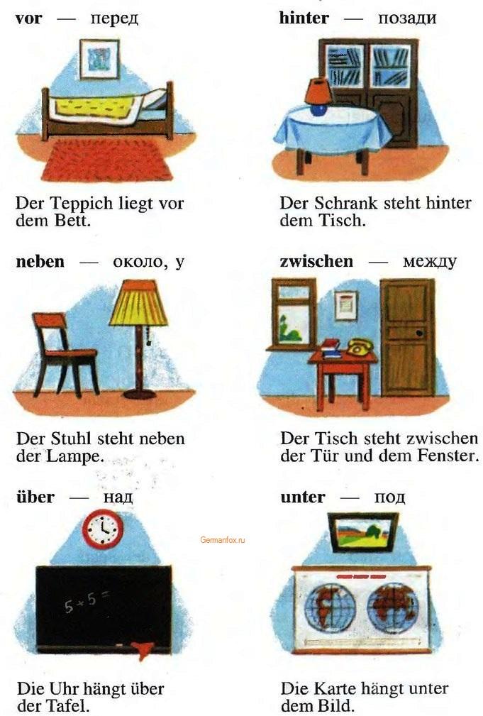 немецкие предлоги примеры