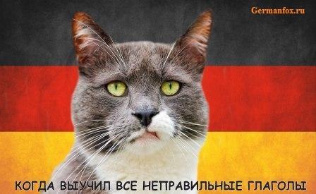116 неправильных глаголов в немецком языке