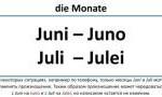 Названия месяцев в немецком языке