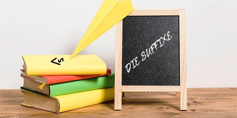 Суффиксы существительных в немецком языке