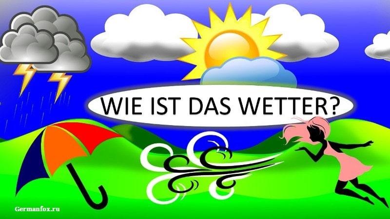 Диалог на немецком о погоде