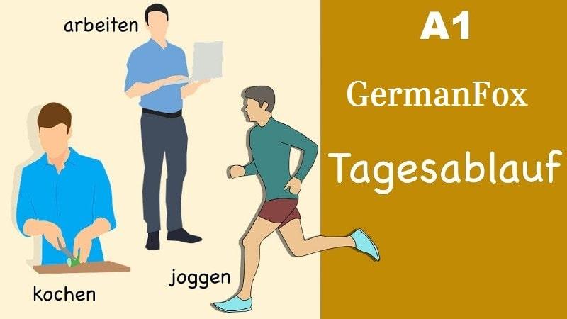 Диалог на немецком с аудио «Tagesablauf»