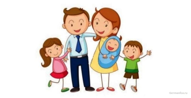Диалог на немецком про семью с переводом