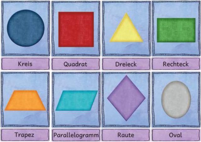 Геометрические фигур на немецком